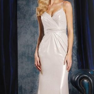 Alfred Angelo Silver/Nude Formal Dress- New sz 10